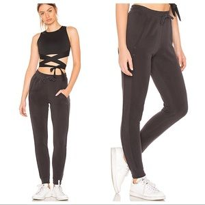 NEW Free People Back Into It Jogger in Black